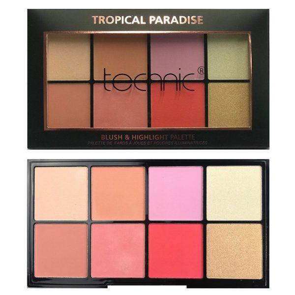 Technic Blush & Highlight Palette - Tropical Paradise 4