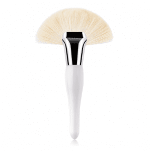 White Large Curvy Fan Brush
