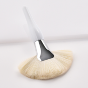 White Large Curvy Fan Brush 4