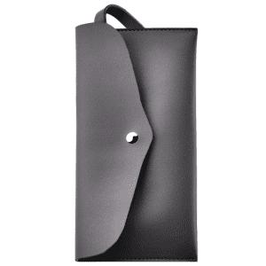 Article Leather Makeup Bag - Dark Grey
