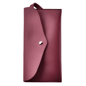 Article Leather Makeup Bag - Wine Red