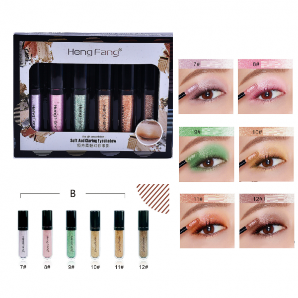 Heng Fang 6pcs Liquid Glitter Eyeshadow B