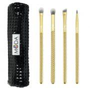Royal & Langnickel MŌDA™ Metallics 5pcs Gold Eye Makeup Brush Set 1