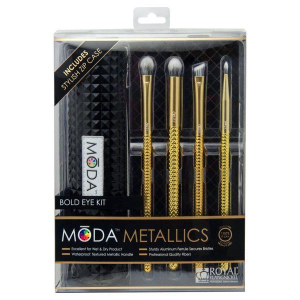 Royal & Langnickel MŌDA™ Metallics 5pcs Gold Eye Makeup Brush Set