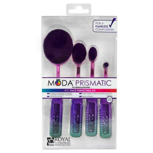Royal & Langnickel MŌDA™ Prismatic 4pcs Face Perfecting Toothbrush Makeup Brush Kit