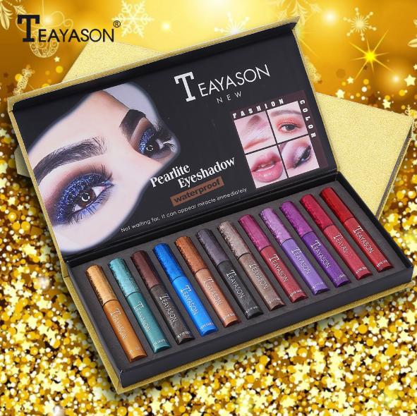 Teayason 12pcs Lip & Eye Liquid Glitter