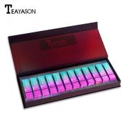 Teayason 12pcs Matte Lipstick Wine Red Box 1