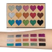 Beauty Blazed 15 Colours Heart Glitter Palette 2
