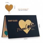 Beauty Blazed 15 Colours Heart Glitter Palette 3