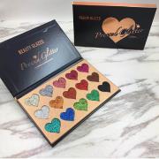 Beauty Blazed 15 Colours Heart Glitter Palette 6