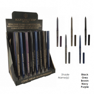 Body Collection Retractable Eyeliner 32pcs TRAY 5 shades 1