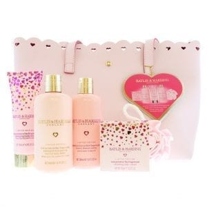 Baylis & Harding Signature Rose Prosecco 6pcs Gift Set with Pink Weekend Handbag
