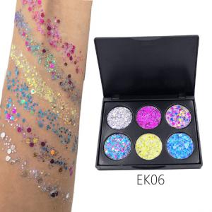 PopFeel 6pcs Glitter Shimmer Eyeshadow #6