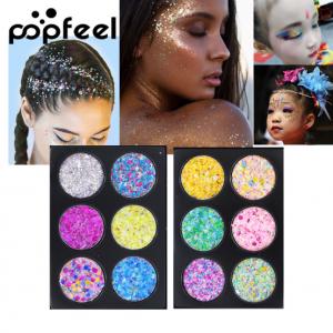 PopFeel 6pcs Glitter Shimmer Eyeshadow #6+7
