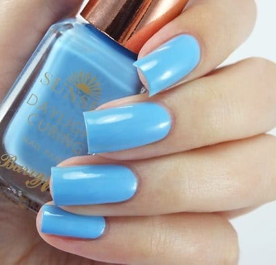 Barry M Sunset Daylight Curing Nail Polish Bug A Blue Colour Zone Cosmetics